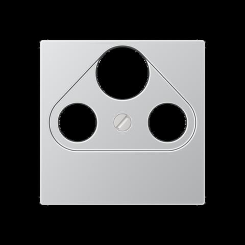 Розетка TV SAT FM универсальная, оконечная, диапазон частот от 4 до 2400 MГц. Цвет Алюминий. JUNG A. S4100+A561PLSATAL