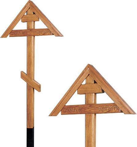 Крест на могилу дубовый