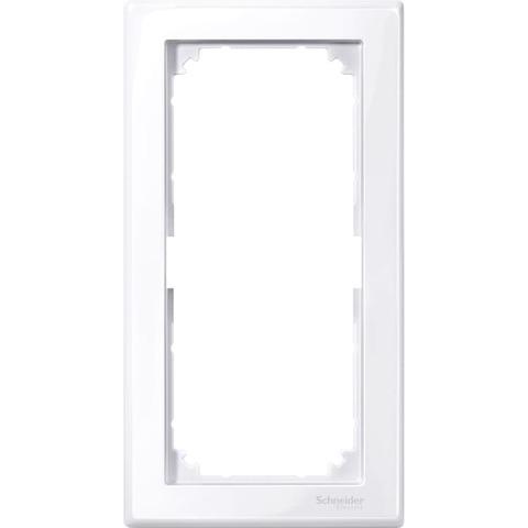 Рамка на 2 поста без перегородки. Цвет Активный белый, блестящий. Merten M-smart. MTN478825