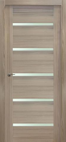 Дверь №7Х стекло матовое (капучино мелинга, остекленная экошпон), фабрика Profil Doors
