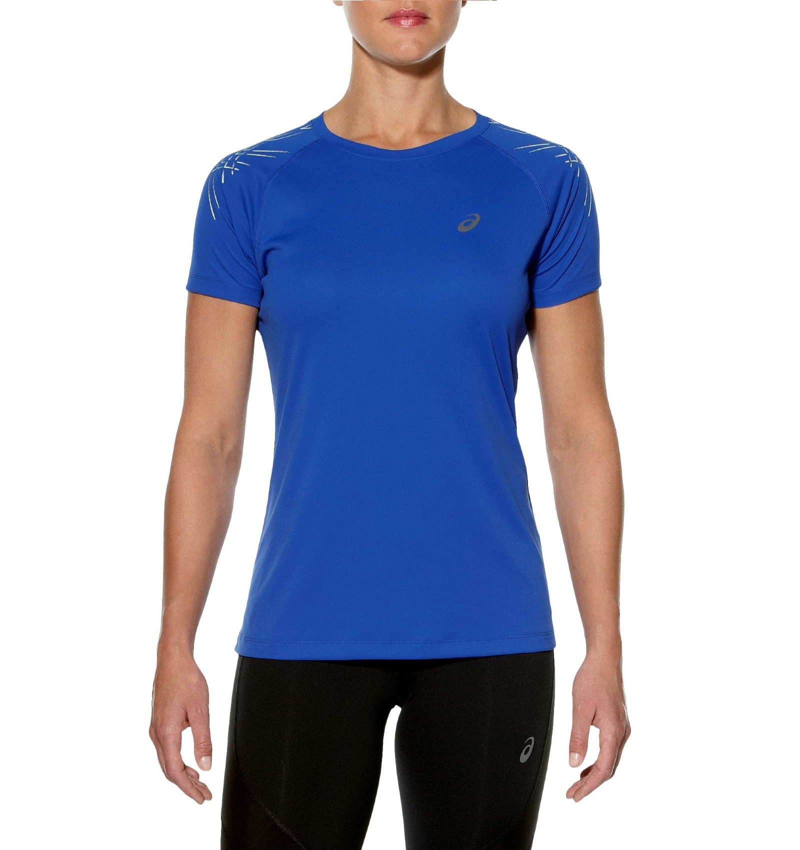 Женская спортивная беговая футболка Asics Stripe SS Top (126232 8091) фото