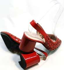 Женские босоножки на толстом каблуке G.U.E.R.O G067-TN Red