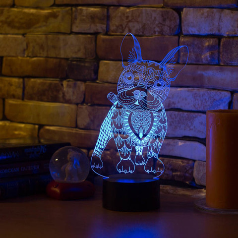 3D лампа Французский бульдог