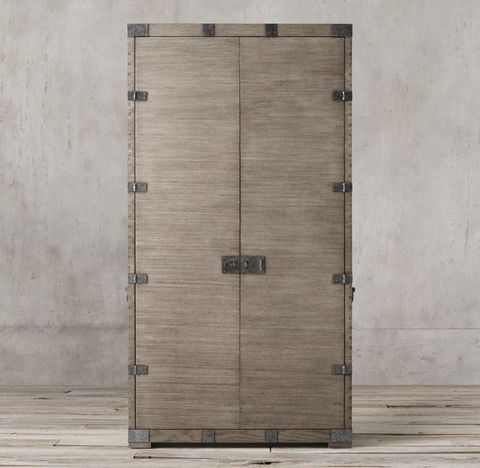 Heirloom Silver-Chest Double-Door Cabinet