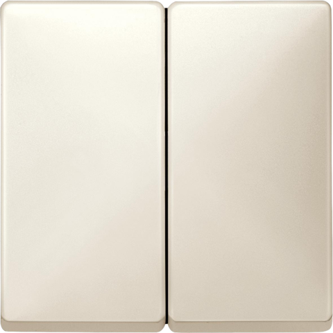 Выключатель двухклавишный. Цвет Бежевый. Merten. MTN3115-0000+MTN412544