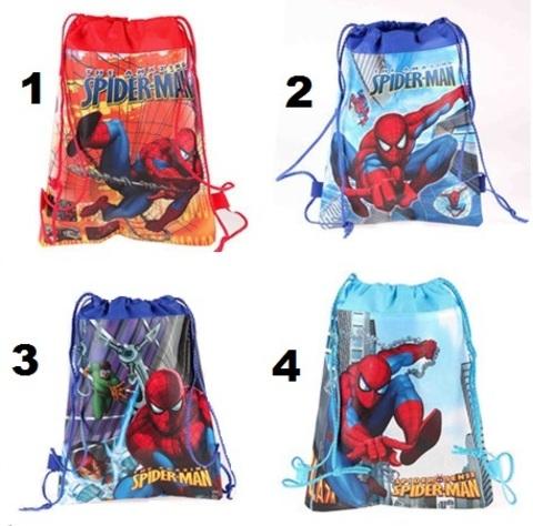 Мешки школьные для сменной обуви Человек паук
