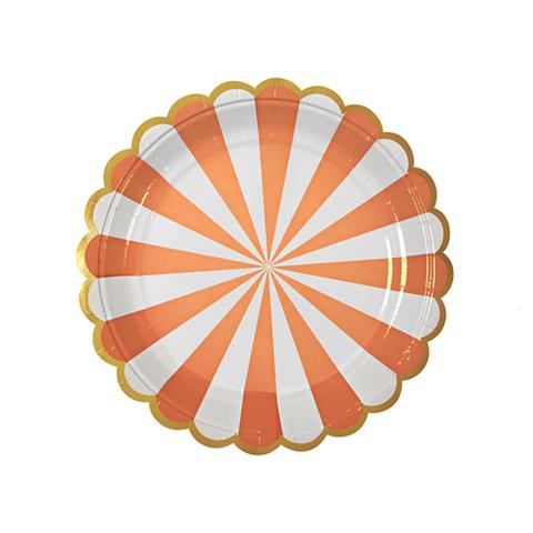 Тарелки в оранжевую полоску, маленькие