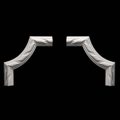 Угловой элемент Европласт из полиуретана 1.52.312, интернет магазин Волео