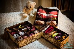 набор из 3-х органайзеров для белья, шоколадный париж