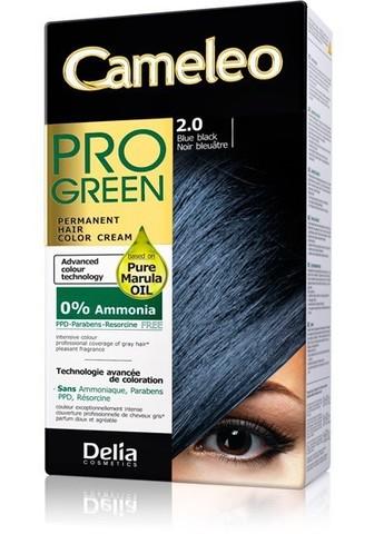 Delia Cosmetics Cameleo Pro Green Краска для волос тон 2.0 сине-черный