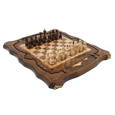 Шахматы + Нарды резные c Араратом 40, Haleyan kh114