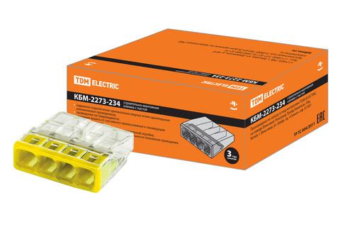 Строительно-монтажная клемма КБМ-2273-234 (2,5мм2) с пастой TDM