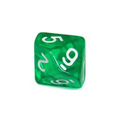 Куб D10 прозрачный: Зеленый