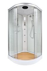 Душевая кабина DETO ЕМ1590 90х90 см с гидромассажем и электрикой
