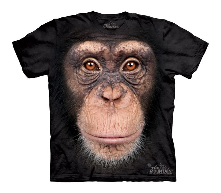 Футболка Mountain с изображением шимпанзе - Chimp Face