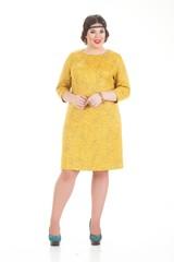 Платье Номи горчичный