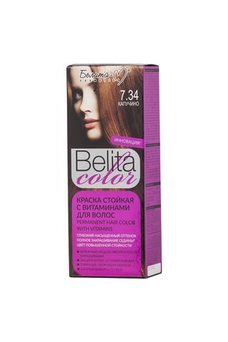Белита-М Belita Color Стойкая краска с витаминами для волос тон №7.34 Капучино