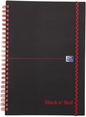 Блокнот Black n' Red A5 (14.8*21см) линейка 70л спираль пластиковая обложка