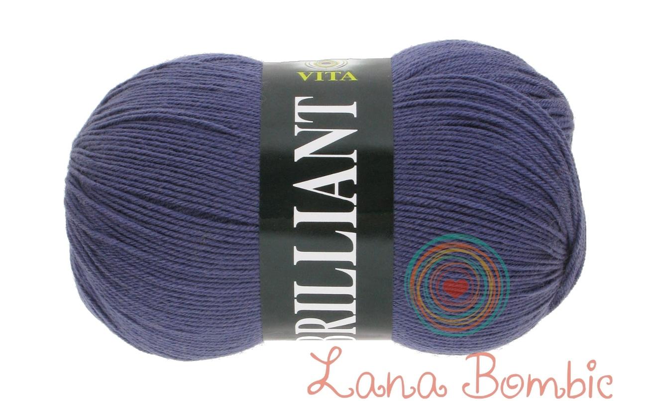 Пряжа Vita Brilliant темно-серо-голубой 4982