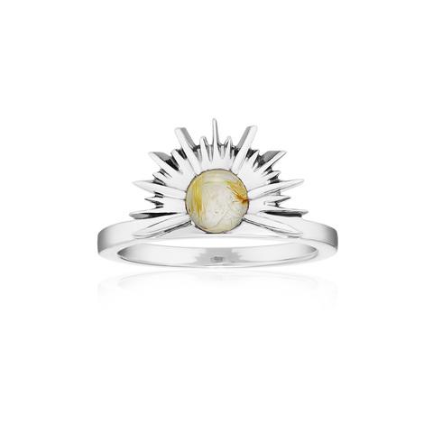 Кольцо SUNSET - Рутиловый кварц
