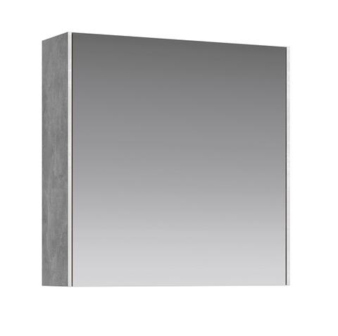 Зеркальный шкаф Mobi 60 бетон светлый