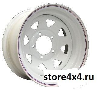 Off-Road-Wheels Белый  8x15 5x139.7 ET-19 D110