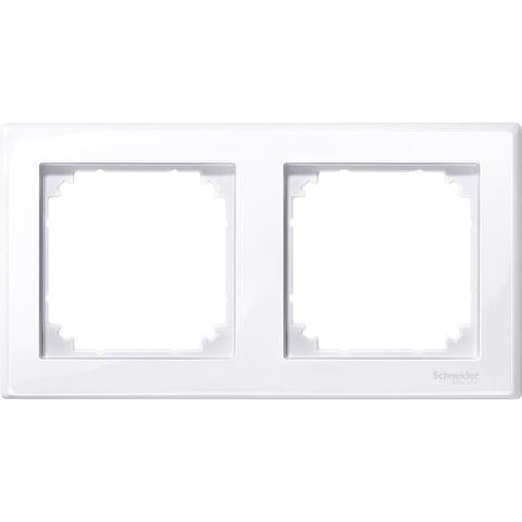 Рамка на 2 поста. Цвет Активный белый, блестящий. Merten M-smart. MTN478225