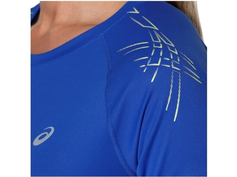 Женская беговая футболка Асикс Stripe SS Top (126232 8091) фото
