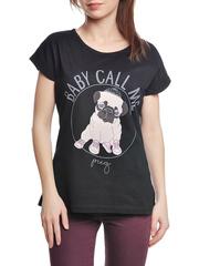 37662-1-4 футболка женская, черная