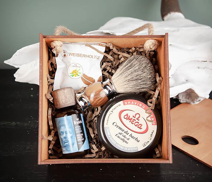 PSET106 Мужской набор из помазка, мыла и лосьона после бритья фото 02