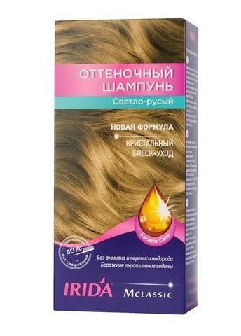 Irida Irida М classic Оттеночный шампунь для окраски волос Светло-русый 3*25мл