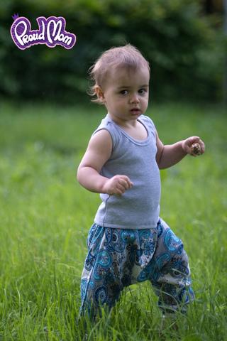 Детская маечка Легкость бытия серый меланж