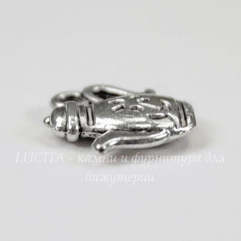 "Подвеска ""Чайник"" 13х13 мм (цвет - античное серебро)"
