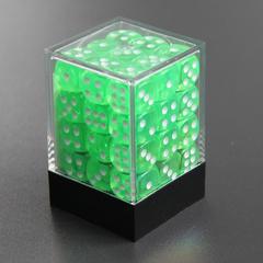 Набор шестигранных кубиков прозрачный зеленый (36 штук)