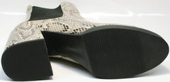 Модные ботинки женские осень весна Kluchini 13065 k465 Snake.