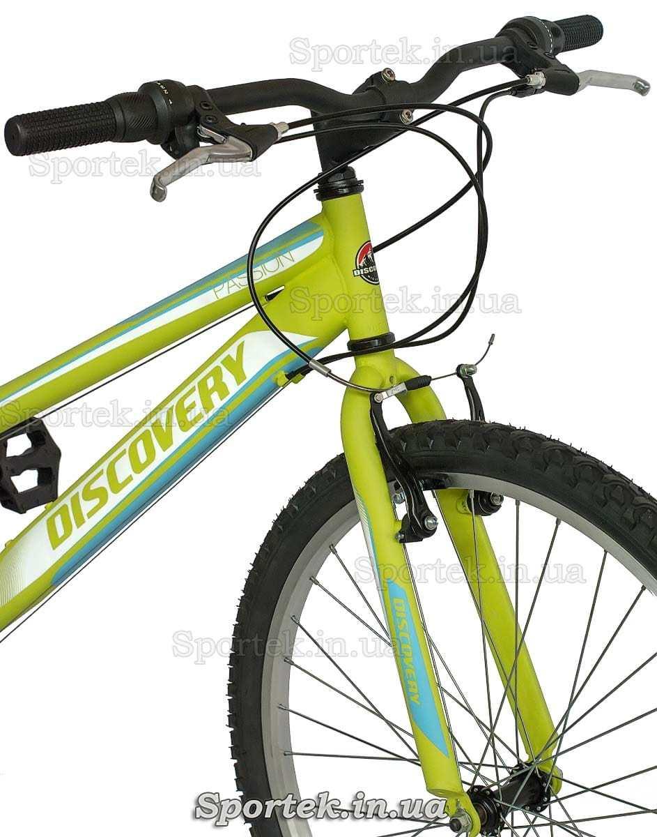 Вилка, руль, покрышка на городском женском велосипеде Дискавери Пассион (Discovery Passion 2016)