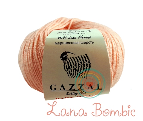Пряжа Gazzal Baby Wool персик 834