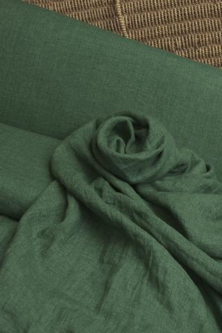 Лён смягченный, цвет МАЛАХИТ-МЕЛАНЖ