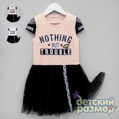 Платье (сетка, стразы, лента)