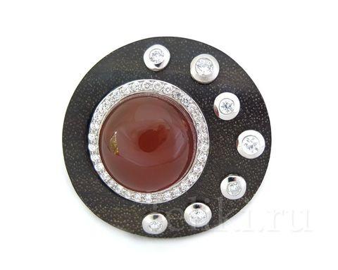 кольцо с сердоликом кс-7225