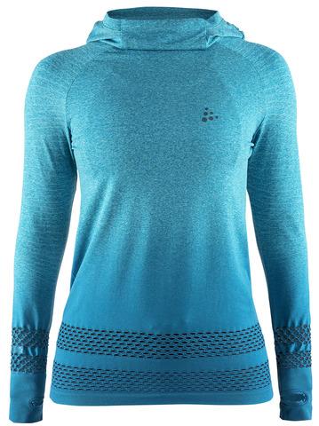 Рубашка беговая Craft Core Fuseknit с капюшоном женская