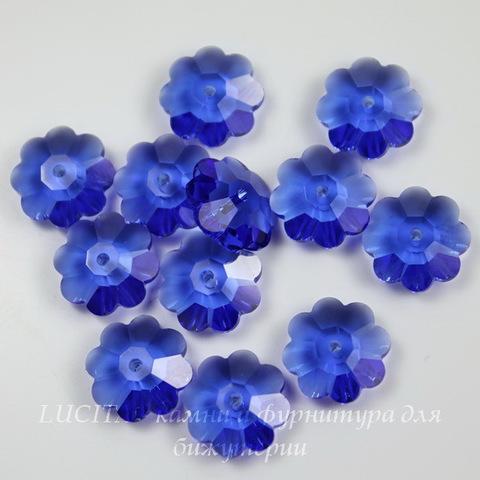 """3700 Бусина - рондель Сваровски """"Цветочек"""" Sapphire 10 мм ()"""
