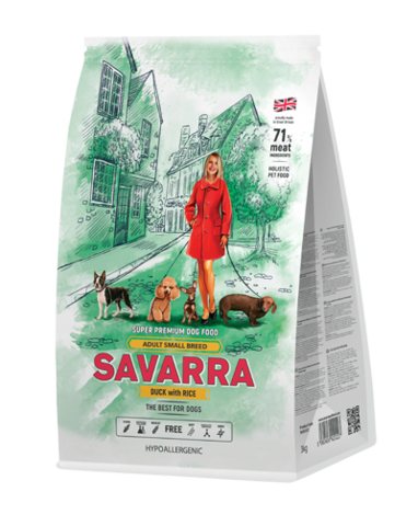 SAVARRA ADULT SMALL BREED DUCK&RICE