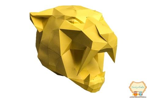 Конструктор. Голова саблезубого тигра. Papercraft. 3D фигура из бумаги и картона.