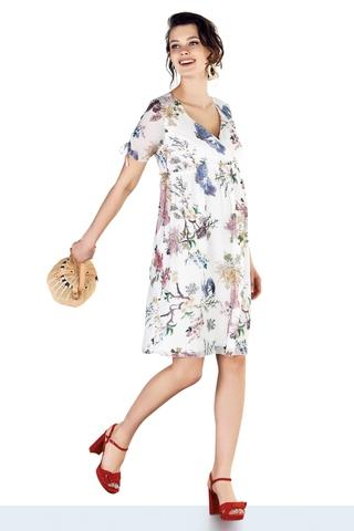 Платье для беременных 10274 цветы