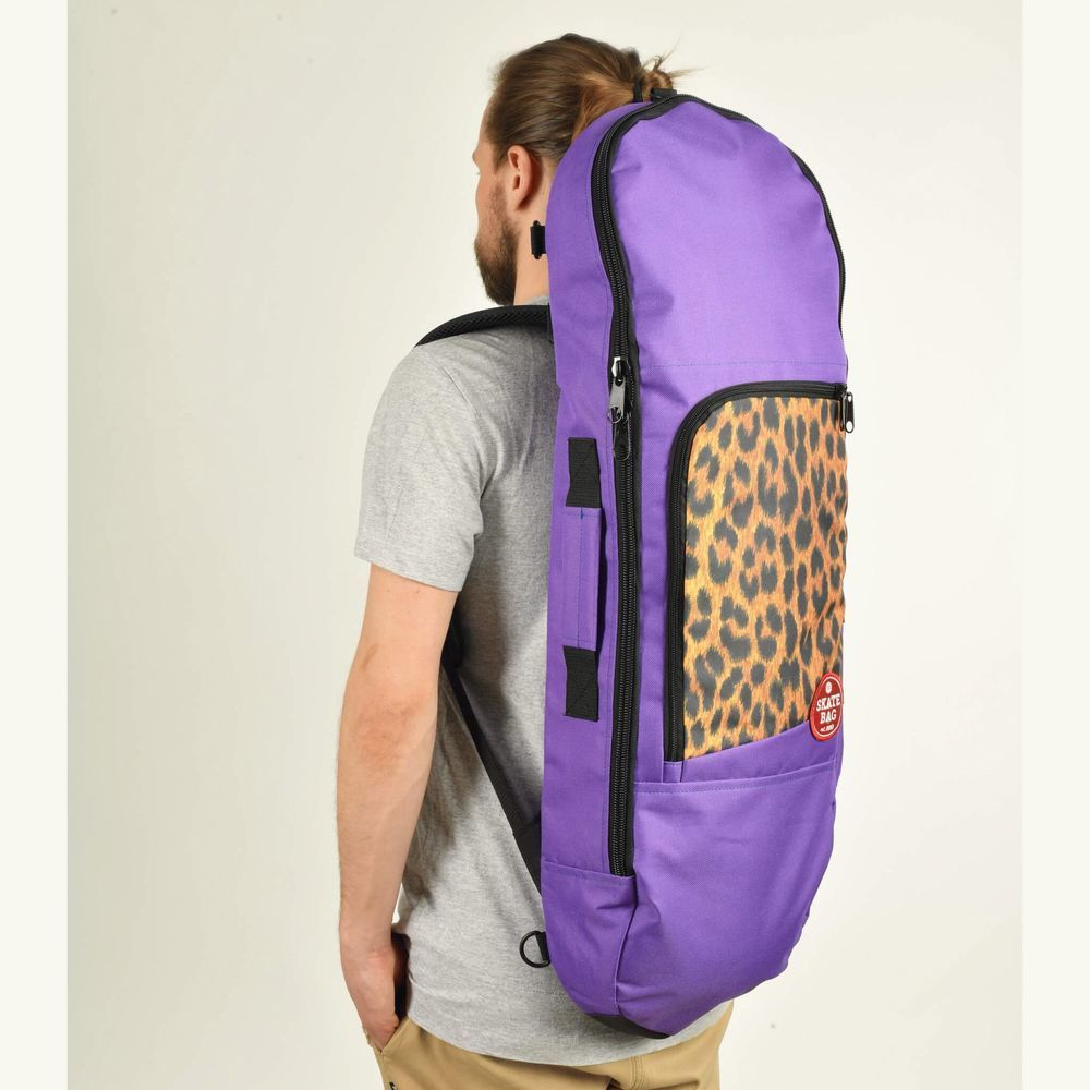 Чехол для скейтборда SKATE BAG Trip (Purple/Leo Print)