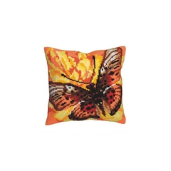 Подушка для вышивания Collection D'Art Жёлтая бабочка
