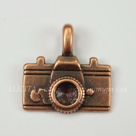 """Подвеска """"Фотоаппарат"""" (цвет - античная медь) 22х21 мм"""