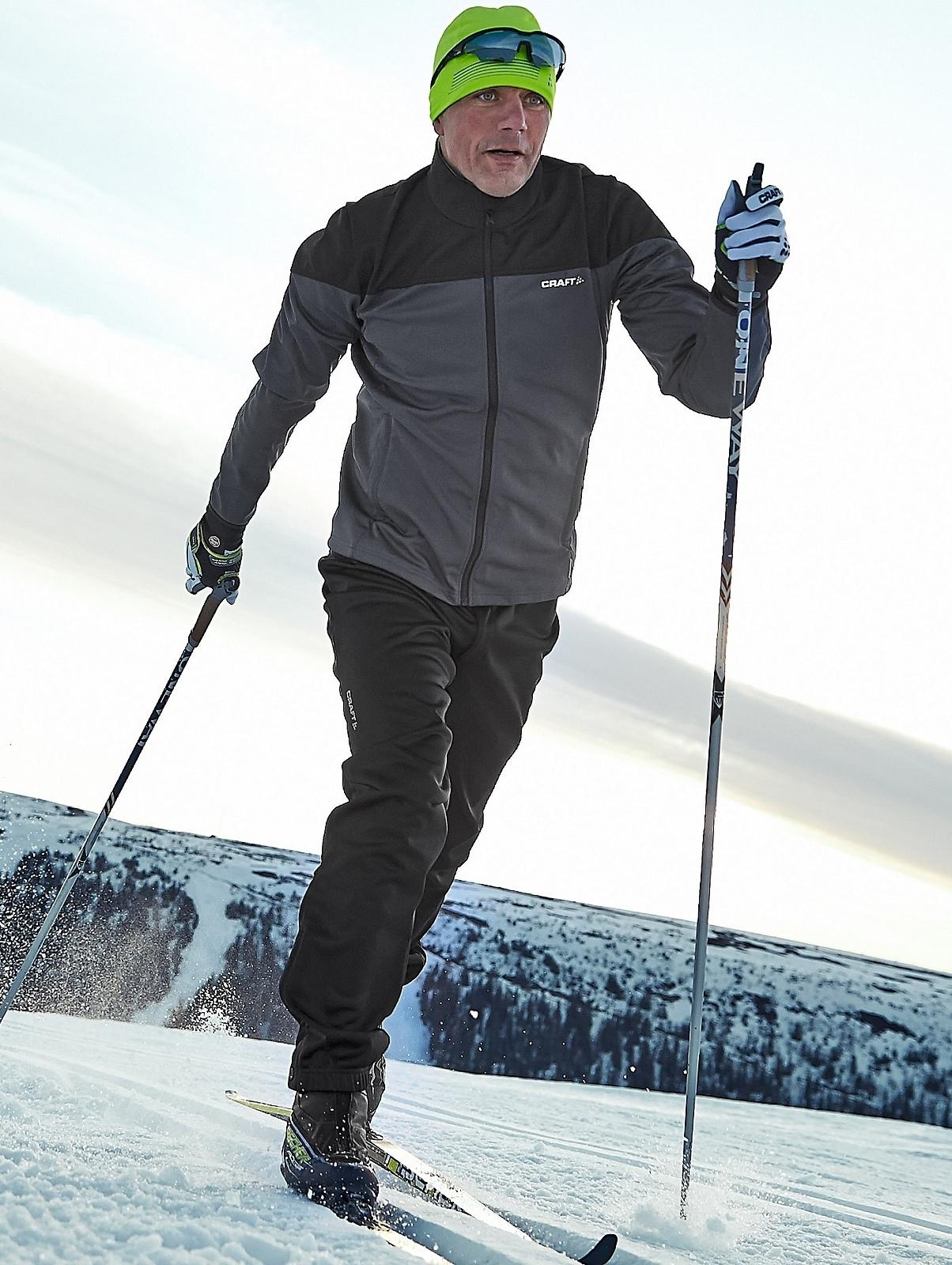Мужская лыжная куртка Craft Voyage XC (1903581-2995) фото серый