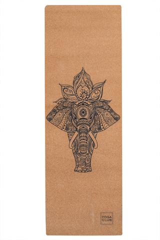 Пробковый коврик для йоги Elephant 183*61*0,3см